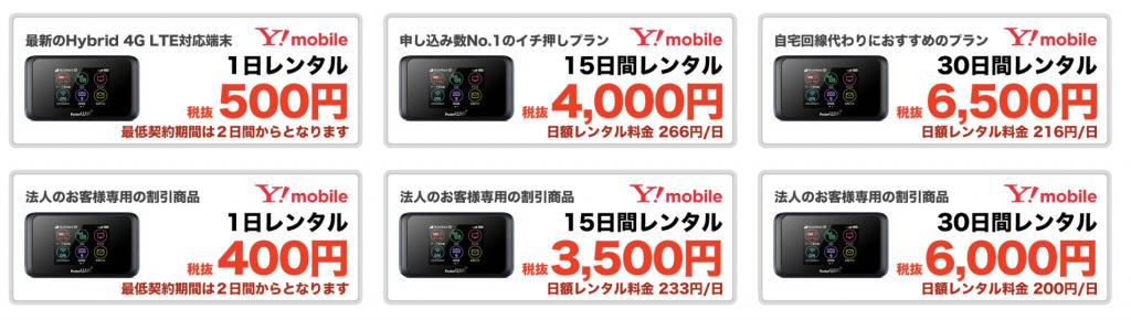 WiFi東京レンタルショップ 料金